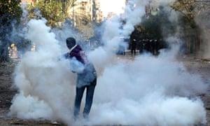 An Egyptian protester near Tahrir Square. 21/11/11