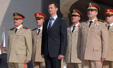 Bashar Assad and generals