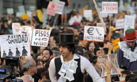 Indignados in Madrid