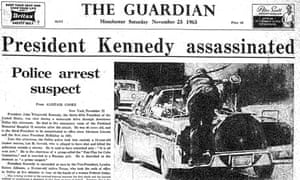 Guardian front page when JFK was assassinated in 1963