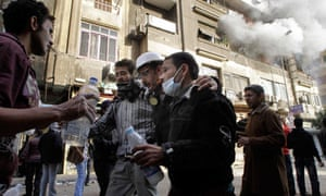 Gas victims tahrir square