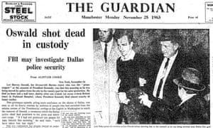 Guardian front page on Lee Harvey Oswald shot, 1963