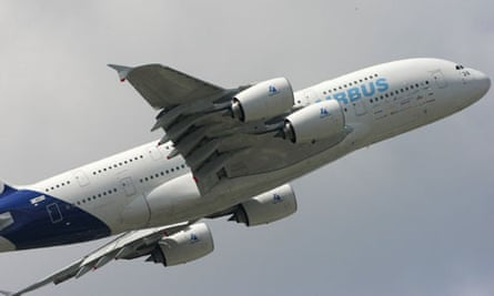 An Airbus A380 at the Paris Air Show