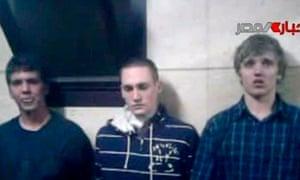 American students Greg Porter, Luke Gates and Derrik Sweeney