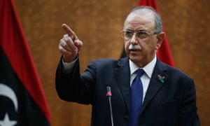 Libya's interim prime minister Abdulrahman El Keib