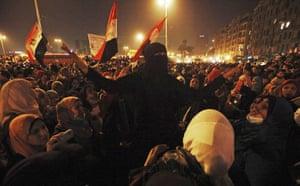 Cairo protests 4th night: Cairo protests 4th night