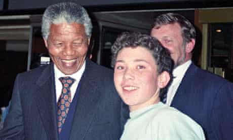 Richard Simpkin with Nelson Mandela