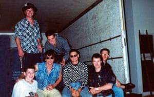 Richard Simpkin photos: Richard Simpkin with INXS in 1989