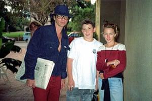 Richard Simpkin photos: Richard Simpkin with Michael Hutchence and Kylie Monogue in 1990