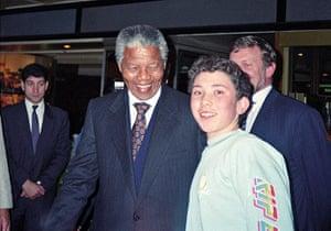 Richard Simpkin photos: Richard Simpkin with Nelson Mandela in 1990