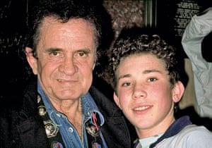 Richard Simpkin photos: Richard Simpkin with Johnny Cash in 1991