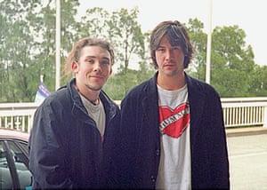 Richard Simpkin photos: Richard Simpkin with Keanu Reeves in 1995
