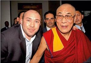 Richard Simpkin photos: Richard Simpkin with the Dalai Lama in 2002