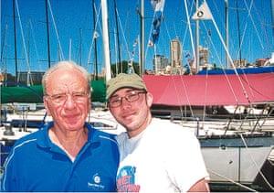 Richard Simpkin photos: Richard Simpkin with Rupert Murdoch in 2001