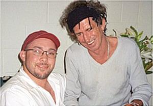 Richard Simpkin photos: Richard Simpkin with Keith Richards in 2003