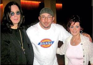 Richard Simpkin photos: Richard Simpkin with Ozzy and Sharon Osbourne in 2005