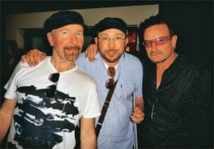 Richard Simpkin photos: Richard Simpkin with the Edge and Bono in 2010