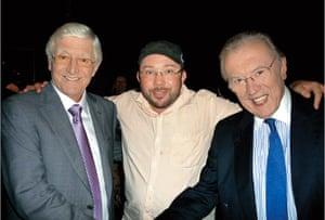 Richard Simpkin photos: Richard Simpkin with Michael Parkinson and David Frost in 2011