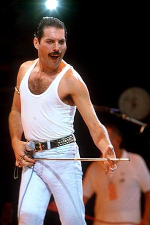 Ten best moustaches: LIVE AID CONCERT AT WEMBLEY STADIUM, LONDON , BRITAIN - 1985