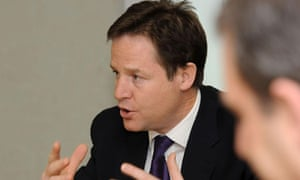 Nick Clegg says he wants to ensure those born in the boom do not 'bear the brunt of the bust'