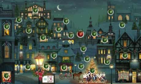 Interactive advent calendar
