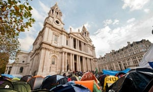 The Occupy London protest outside St Pauls Cathedral.