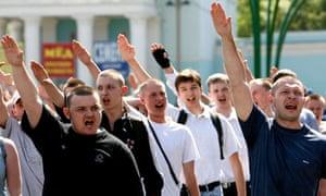 Members of Russian profascist organisati