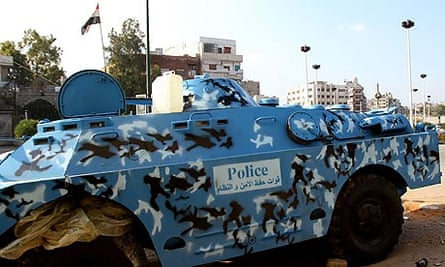 Syrian police armoured vehicle