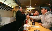 Mitt Romney at Mary Ann's Diner in Derry, New Hampshire.