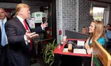 Donald Trump Visits Diner In Portsmouth, New Hampshire