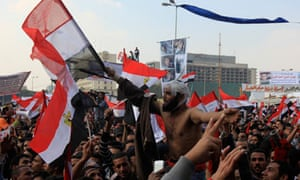 Protesters in Tahrir Square, Egypt