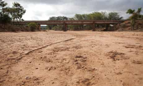 Dry river bed in Mwingi District, Kenya