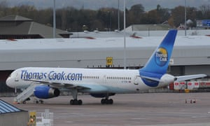 Thomas Cook airliner at Manchester airport