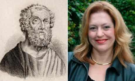 Homer,C.900 Bc?- C.850 Bc?. Ancient Greek Poet.Engraved By J.W.Cook.