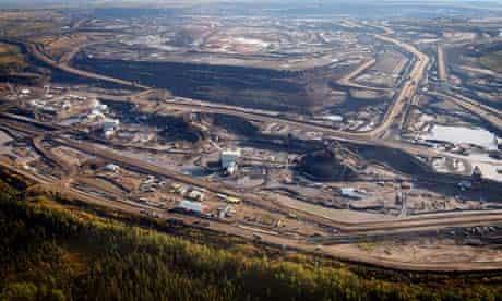 Tar sand extraction in Alberta, Canada