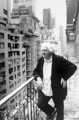 Ken Russell: 2000: Ken Russell on a midtown balcony in New York