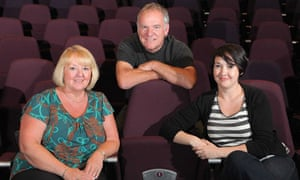 Jude Rogers and her mum Alison with Ralph McTell