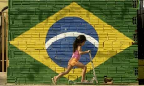 A young girl plays in Rio de Janeiro