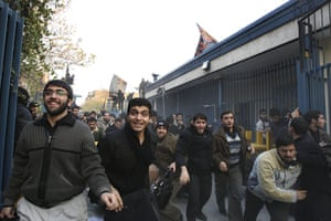 Tehran embassy: Iranian protesters enter the British Embassy, in Tehran