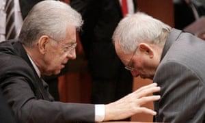 Mario Monti, Wolfgang Schaeuble