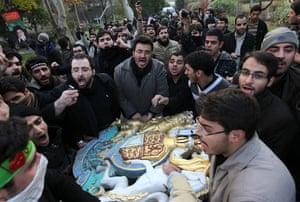 Tehran British embassy: Iranian Demonstrators Break In To British Embassy In Tehran
