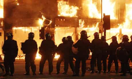 Police in Tottenham during the riots