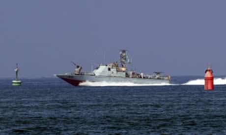 An Israeli army military vessel
