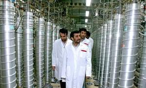 Iran - President Mahmoud Ahmadinejad visits Natanz Nuclear Enrichment Facility