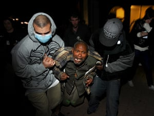 Oakland protests: injured protester