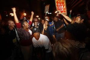Oakland protests: demonstrators