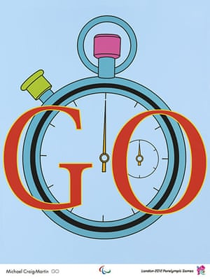 Official Olympic posters: Michael Craig-Martin Olympic poster