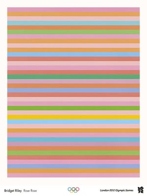 Official Olympic posters: Bridget Riley Olympic poster