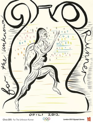 Official Olympic posters: Chris Ofili Olympic poster