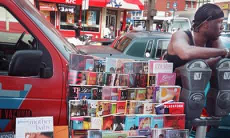 A book stall in Harlem.